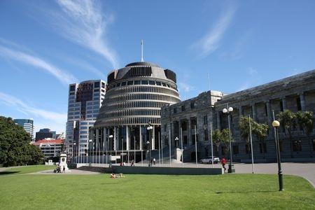 Парламент столицата на Нова Зеландия