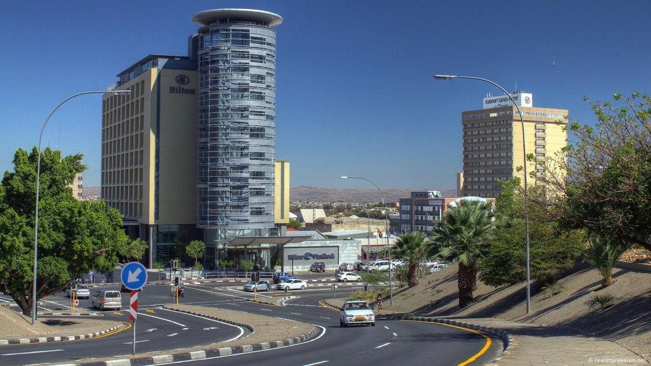 Резултат с изображение за град Виндхук, Намибия.